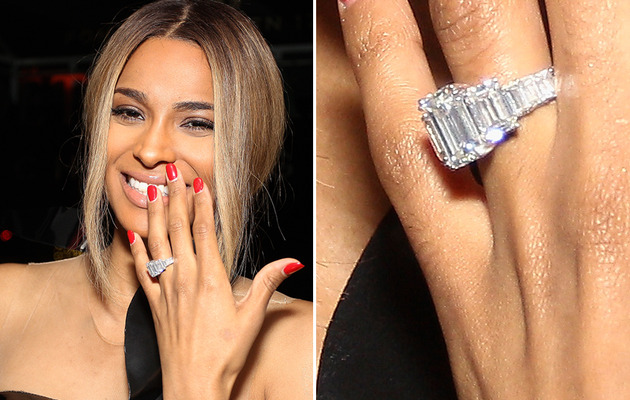 Ciara vs. Kim Kardashian: Whose 15-Carat Ring Is Better?