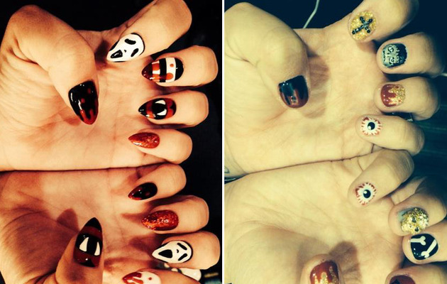 Photos: Demi Lovato's Haunted Halloween Nail Art!