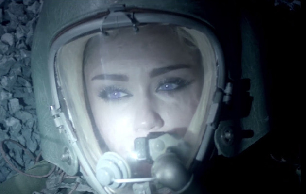 "Miley Cyrus Goes Space Chic in Future's ""Real and True"" Music Video"