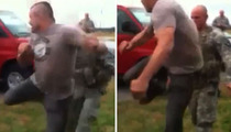 Chuck Liddell Spin Kicks Soldier -- Right in the Chest [VIDEO]