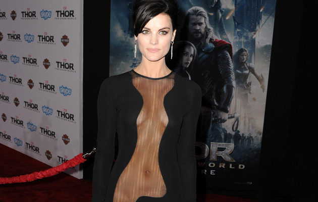 "Jaimie Alexander Goes Commando to ""Thor"" Premiere -- See Her Sexy Dress!"