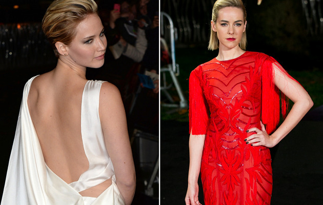 "Jennifer Lawrence & Jena Malone Stun at ""Catching Fire"" Premiere"