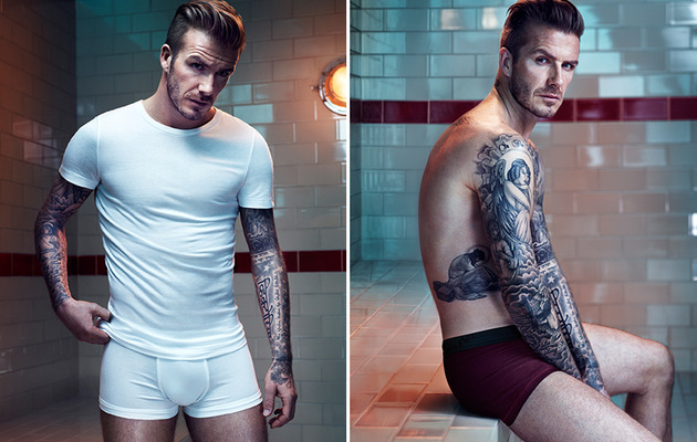 Photos: David Beckham Strips Down for the Holidays