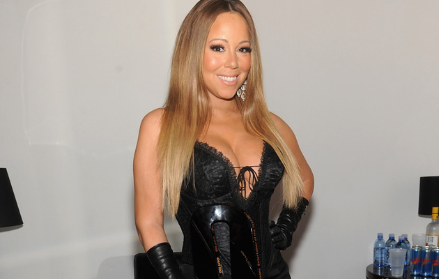 Mariah Carey Busts Out of Corset Alongside Daughter Monroe