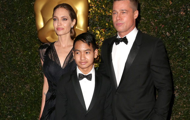 Maddox Hits Red Carpet with Brad & Angelina