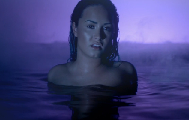 "Demi Lovato Shows Sensual Side in ""Neon Lights"" Video!"