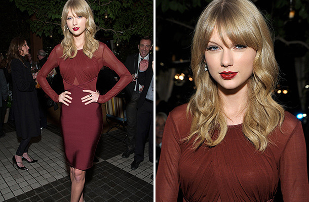 Taylor Swift Stuns at Weinstein Company's Holiday Party!