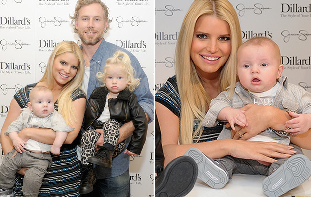 Jessica Simpson Brings Baby Ace & Maxwell to Fashion Event!