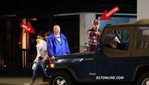 Ashton Kutcher -- The Great Paparazzi Diversion ... Are You Hiding Pregnant Mila Kunis??