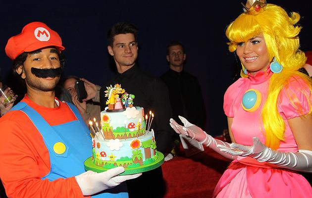 Chrissy Teigen Celebrates 28th Birthday with Mario-Themed Bash!