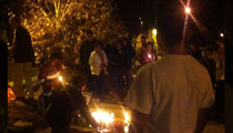 Paul Walker -- Candlelight Vigil at Crash Site