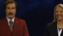 Will Ferrell -- Anchors Real Newscast ... As Ron Burgundy (of course)