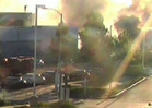 Paul Walker Crash -- The Moment Of Impact & Massive Inferno [VIDEO]
