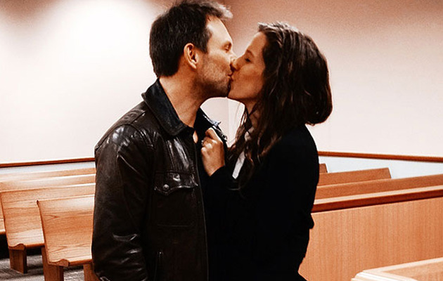 "Christian Slater Says ""I Do"" in Courthouse Wedding!"