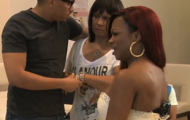 Video: Kandi Burruss' Mom Attacks Friend at Wedding Dress Fitting!