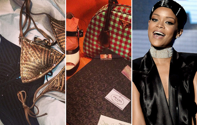 Rihanna Shows Off Christmas Presents From Designer Pals -- See the Sweet Swag!