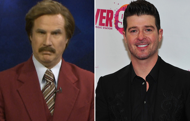 "Ron Burgundy & Robin Thicke Cover ""Ride Like The Wind"" -- And It's Amazing!"
