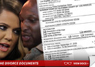 Khloe Kardashian Files Divorce Docs