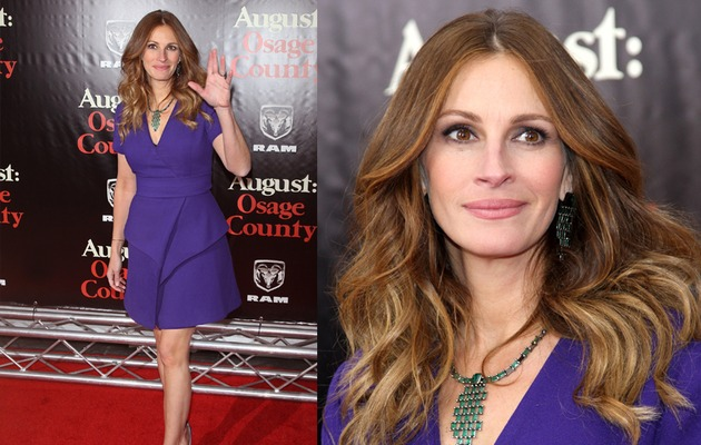 Julia Roberts Stuns in Tight Blue Dress, Slams Pregnancy Rumors