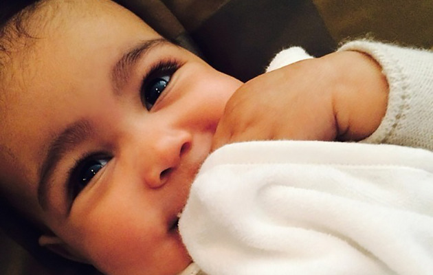 Kim Kardashian Posts New North West Pic -- She's a Beauty!