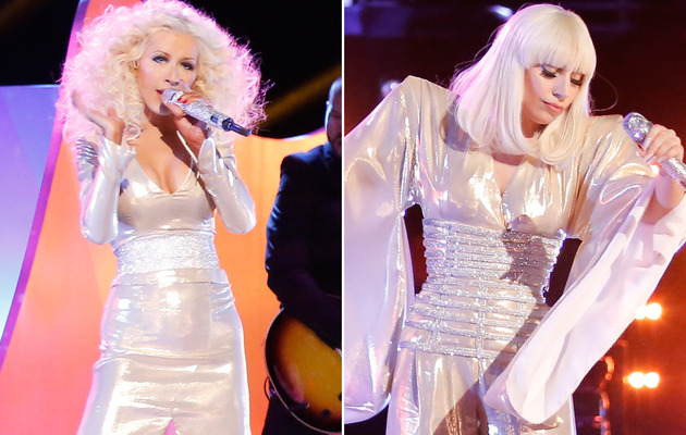 "What Feud? Christina Aguilera & Lady Gaga Duet on ""The Voice"""