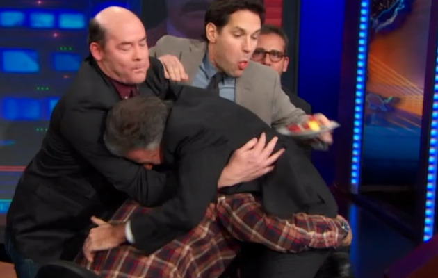 "Cast of ""Anchorman"" Gets Into Epic Brawl with Jon Stewart!"