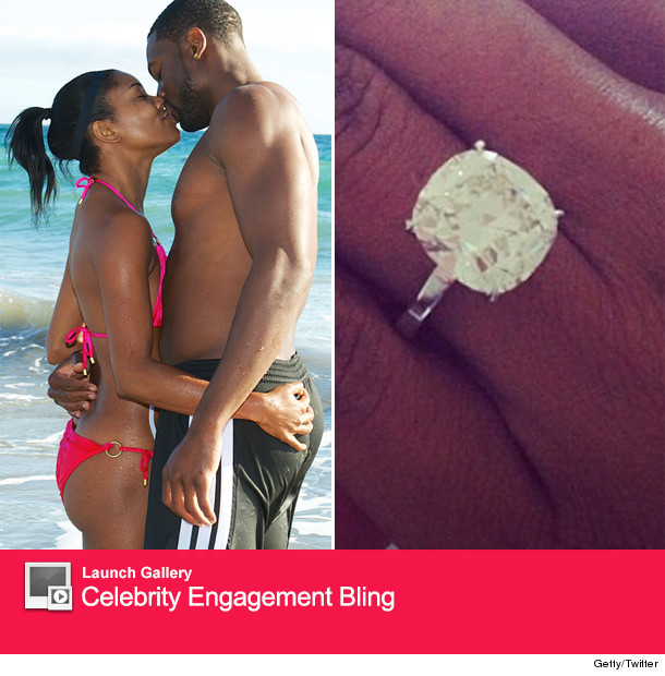 Gabrielle Union Dwyane Wade Engaged See the Ring toofabcom
