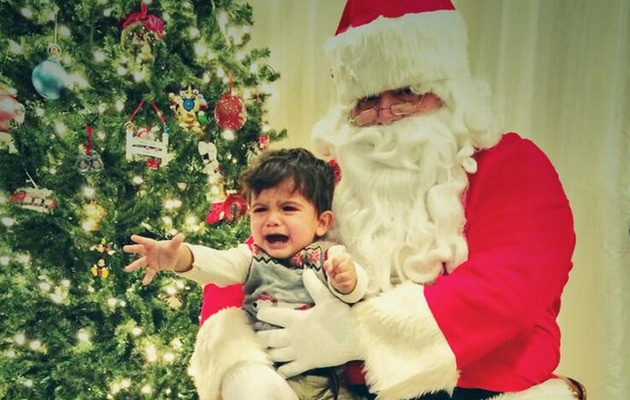 Snooki's Son Lorenzo Is Not a Fan of Santa Claus!