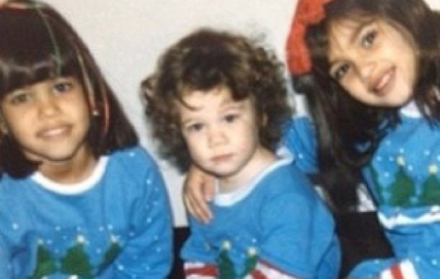 Kim Kardashian Shares Cute Christmas Throwback!