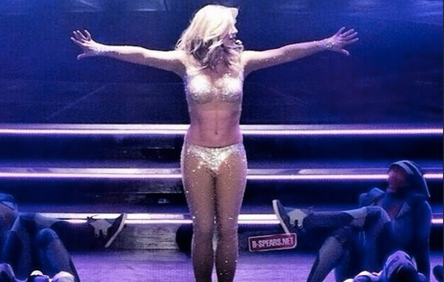 "Britney Spears Flaunts Hot Bod at ""Piece of Me"" Dress Rehearsal!"