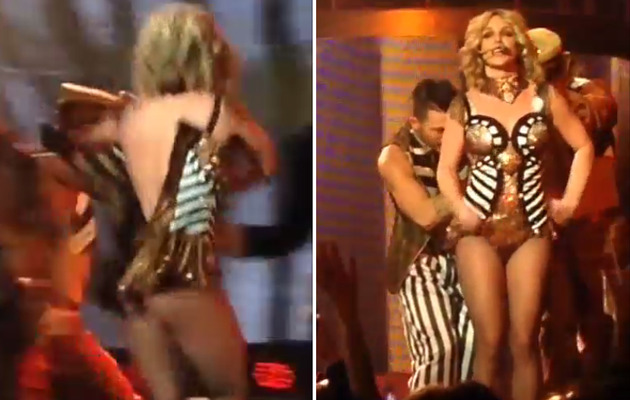 "Video: Britney Spears Almost Loses Her Dress During ""Circus!"""