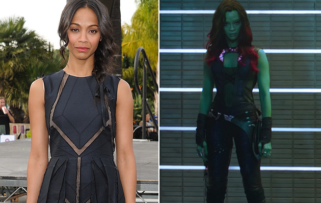 "Zoe Saldana Goes Green In First ""Guardians of the Galaxy"" Pic!"