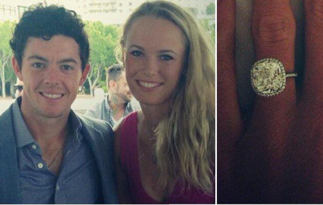 Caroline Wozniacki & Rory McIlroy Get Engaged -- See the Ring!