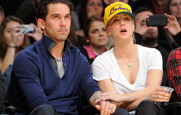 Kaley Cuoco Debuts Massive Wedding Ring at Lakers Game