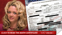 Lisa Robin Kelly Death Certificate -- 'Multiple Drugs' -- 'Oral Ingestion'
