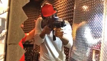 LeBron James -- Handy With a Machine Gun