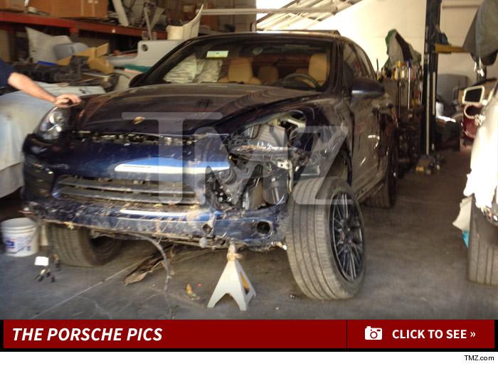 Arsenio Hall EXPENSIVE WRECKAGE After Freak Porsche Crash - Porsche collision repair