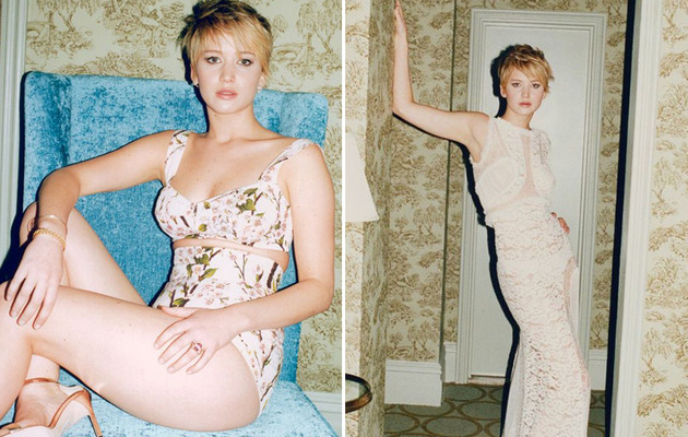 Jennifer Lawrence Flaunts Sexy Curves in W's Movie Issue