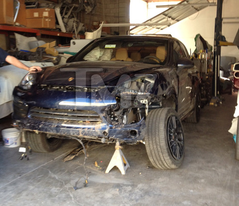 Arsenio Hall's brand new Porsche Cayenne S -- He lost control of his ride, swerved off the road and crashed into a dirt shoulder just two days before Christmas.