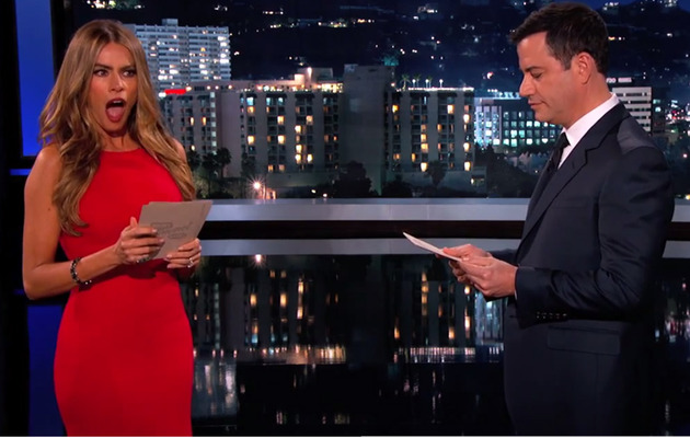 Sofia Vergara Slaps Jimmy Kimmel After Reading Mean Internet Comments!