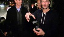 Ryan Seacrest Slangin' iPhone Keyboard on the Streets -- Suck It BlackBerry!
