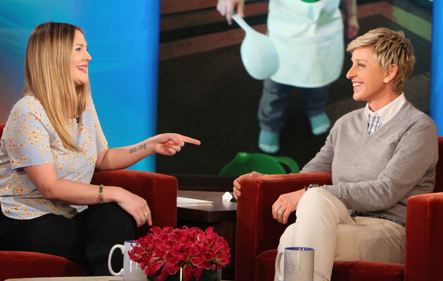 "Drew Barrymore Dishes on Ellen's ""Fat"" Comment, Baby Olive & Pregnancy Cravings!"