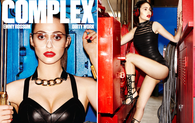 Emmy Rossum Strips Down for Complex -- See Sexy Dominatrix Pics!