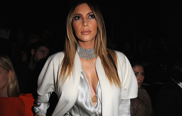Kim Kardashian Reveals a Little Too Much at Paris Fashion Week