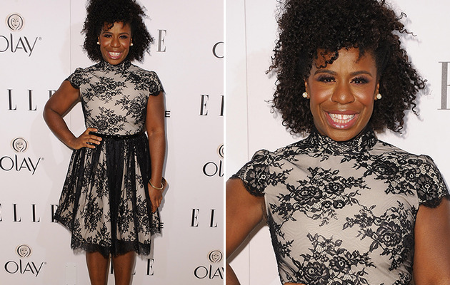 Uzo Aduba (AKA Crazy Eyes) Goes Glam for Elle Women in TV Event!