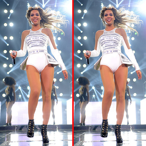 Can you spot the THREE differences in the Beyonce picture?