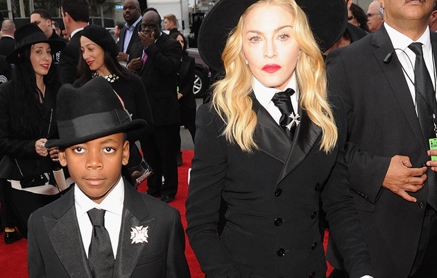 Madonna Hits Grammy Red Carpet with Son David -- In Matching Suits!