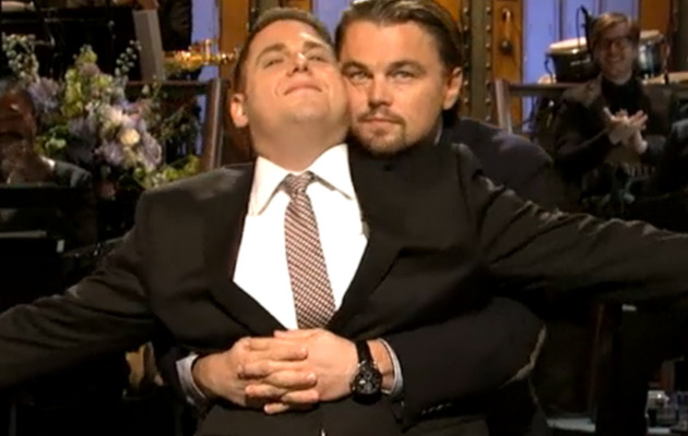 "Leonardo DiCaprio Recreates ""Titanic"" Scene with Jonah Hill"