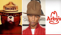 Pharrell's Hat ON FIRE -- Smokey Bear Don't Care