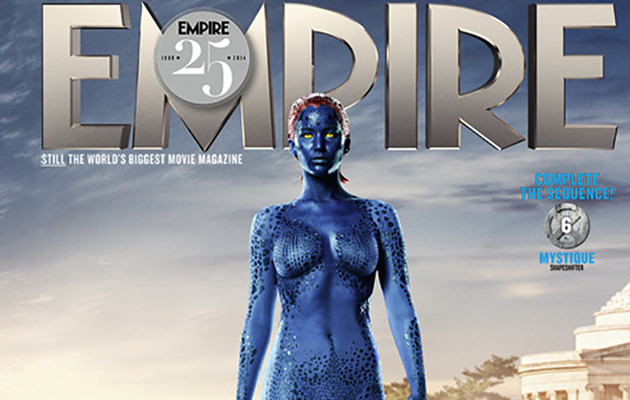 Jennifer Lawrence Goes Nearly Naked as Mystique for Empire Magazine!